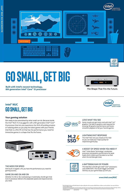 Amazon.com: Intel Desktop/HTPC 6th Generation Intel Dual-Core i5 Upto 2.8GHz, 16GB DDR4, 256GB SSD M.2 SATA, Wifi, Bluetooth, 4K Capable, Dual Monitor ...