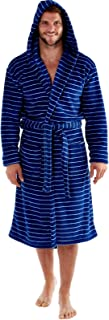 Men's Harvey James Soft Fleece Hooded Robe 260gsm Contrast Lining