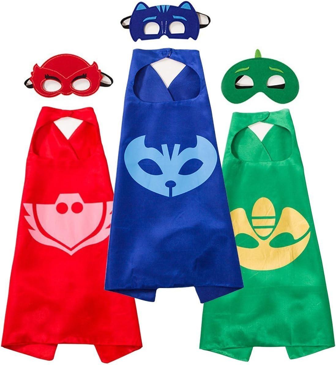 Letop Disfraces Capas de Dibujos Animados con Máscaras de ...