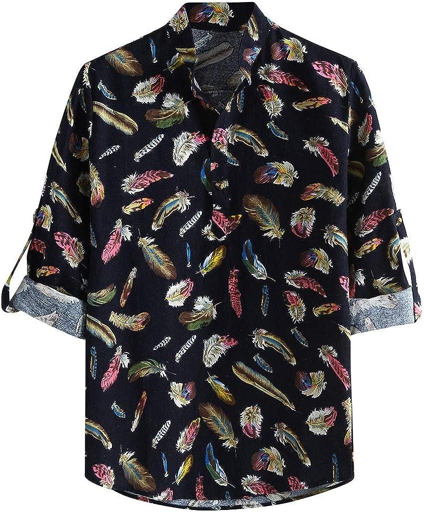 Shirts for Men Vintage Polo Blouse Short Sleeve Tops Casual Beachwear Slim Business Tee Henley Shirt