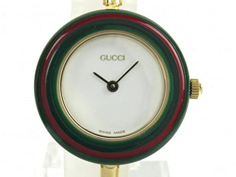 c80539207263 [グッチ] GUCCI チェンジベゼル Sサイズ レディース 腕時計 クォーツ 11/12.2 [中古