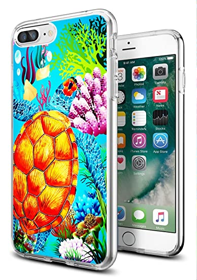 quality design 9ee6d 2f4bb iPhone 8 Case Turtle,iPhone 7 Case Turtle,Gifun [Anti-Slide] and [Drop  Protection] Clear Soft TPU Premium Flexible Protective Case for Apple  iPhone ...