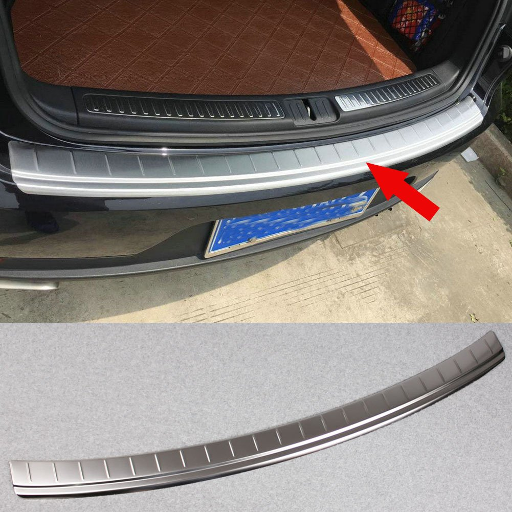 Generic Stainless Steel Rear Bumper Sill Plate Guard Cover Trim Fit For Porsche Macan 2016 2017 Kate Wenzhou automobile supplies factory