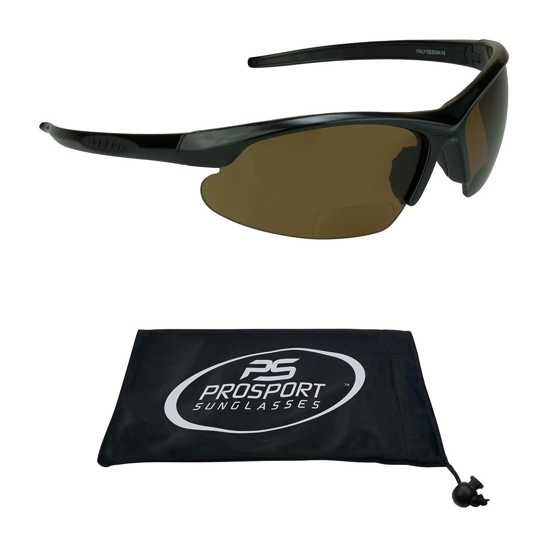 58e4373fa55 Amazon.com  proSPORT Polarized Bifocal Sunglasses for Men and Women. Anti  Glare Impact Resistant Polycarbonate Lenses  Sports   Outdoors