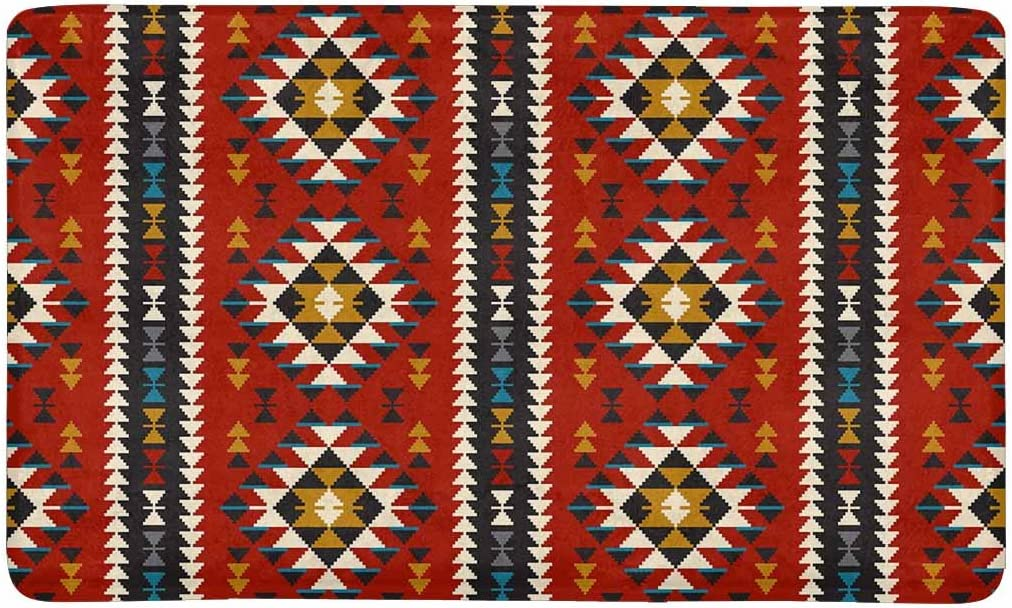 "Southwestern Patterns Western Stars Coir Coconut Fiber Floor Mat Doormat 29/""X17/"""