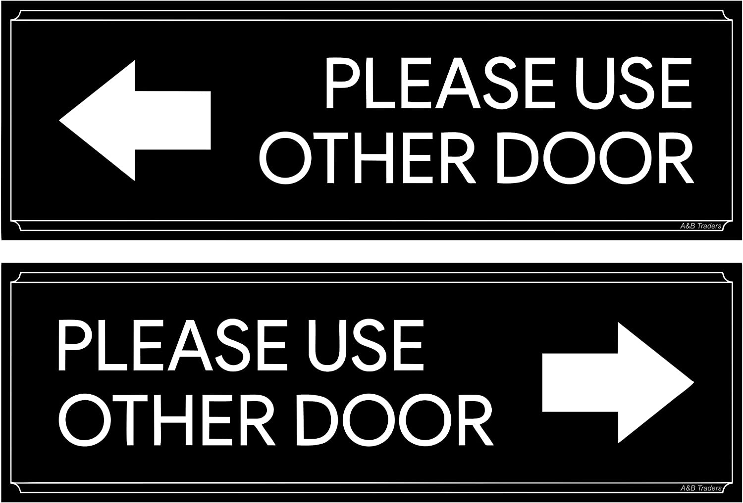 Please Use Other Door Sticker Vinyl Decal Stickers Office Sign 2 Pack Set - Self Adhesive Business Signs, Door Sign Peel & Stick exit Sign for Offices, Stores, Businesses and Shops. by A&B Traders