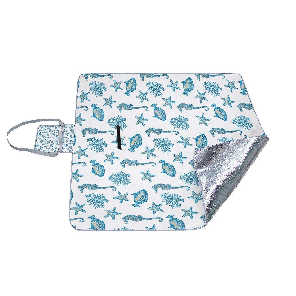 e560fb4a9b81 COOSUN - Manta Manta Manta de picnic con dise ntilde o de estrella de mar y  caballito de ...
