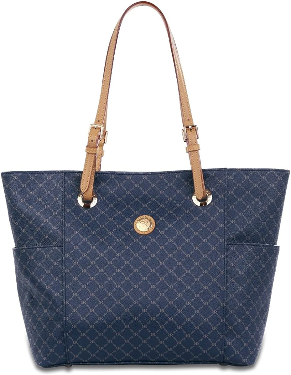 Rioni Womens Saddle Tote Bag - Signature Navy