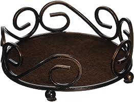 Thirstystone Round Scroll Coaster Holder Fits 4.25 Ceramic, Bronze