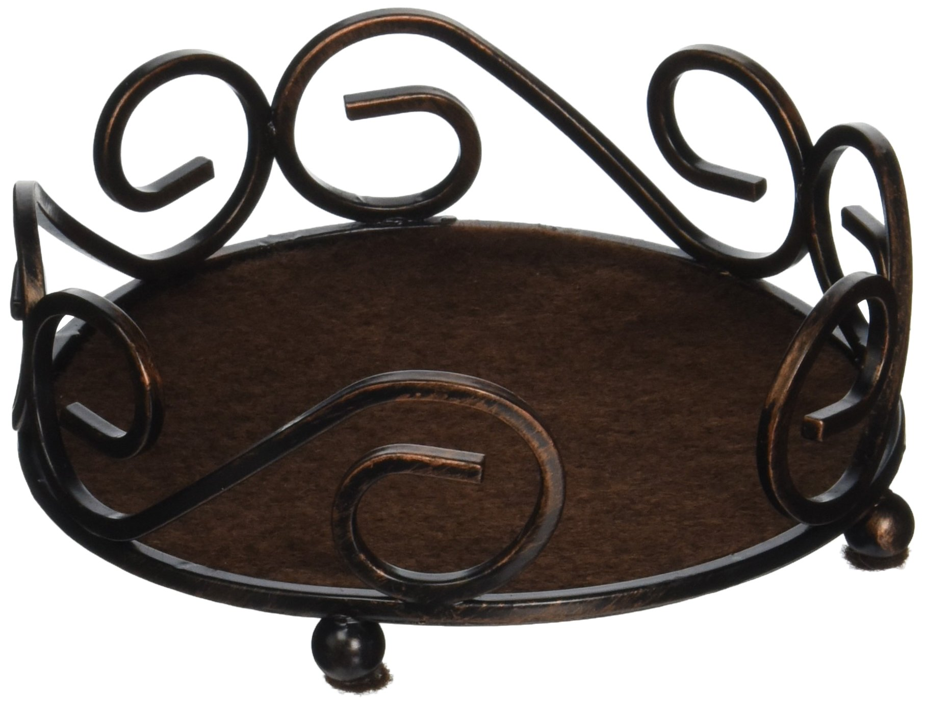 Thirstystone Round Scroll Holder, Bronze by Thirstystone (Image #1)