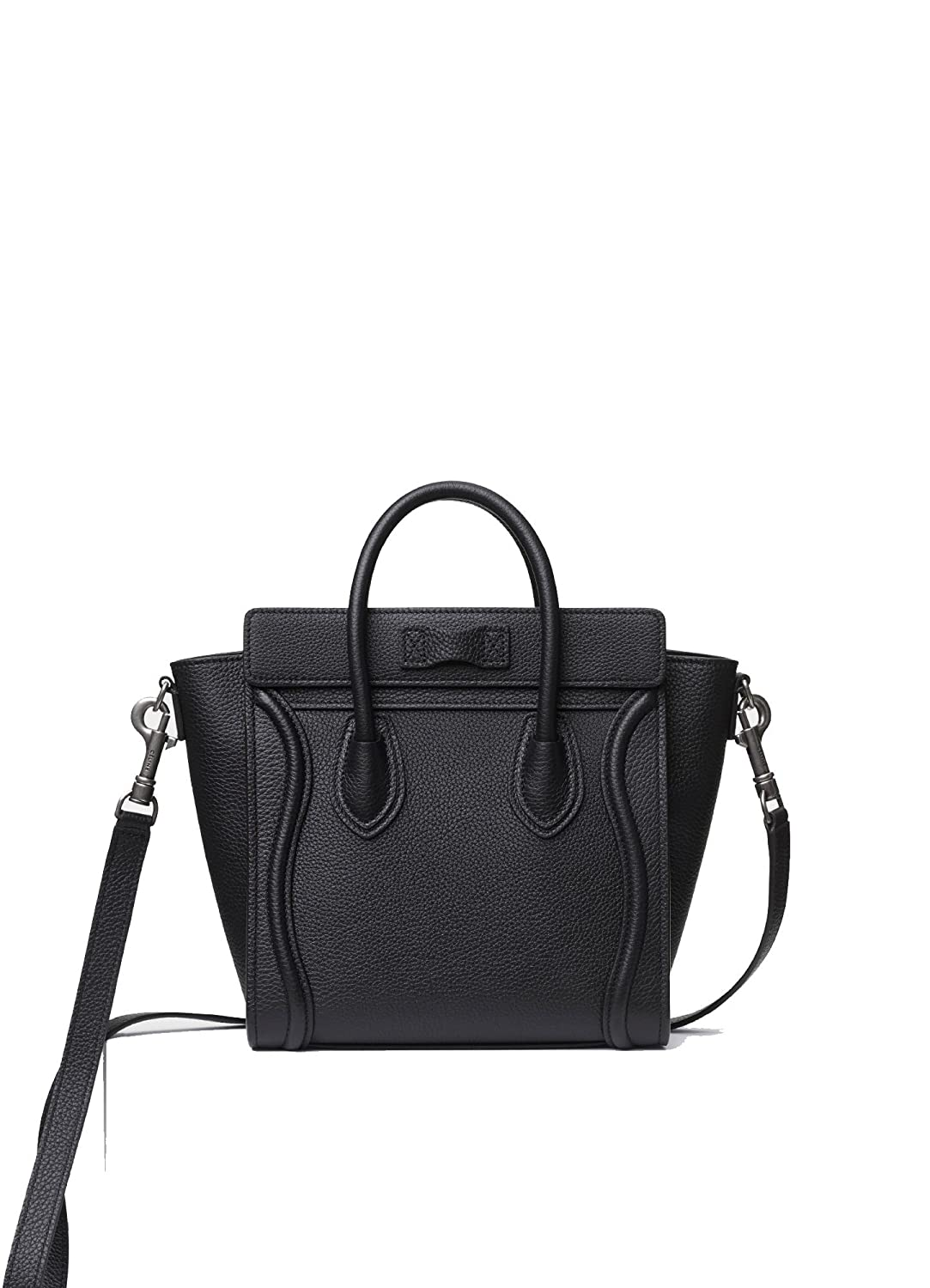 8a602d14d Amazon.com  celine medium luggage phanton bag in baby grained calfskin  (black)  Shoes