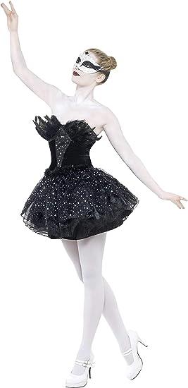 Smiffys-27313S Disfraz de Cisne Negro gótico, con Vestido, Color ...