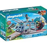PLAYMOBIL® Enemy Airboat with Raptor Building Set
