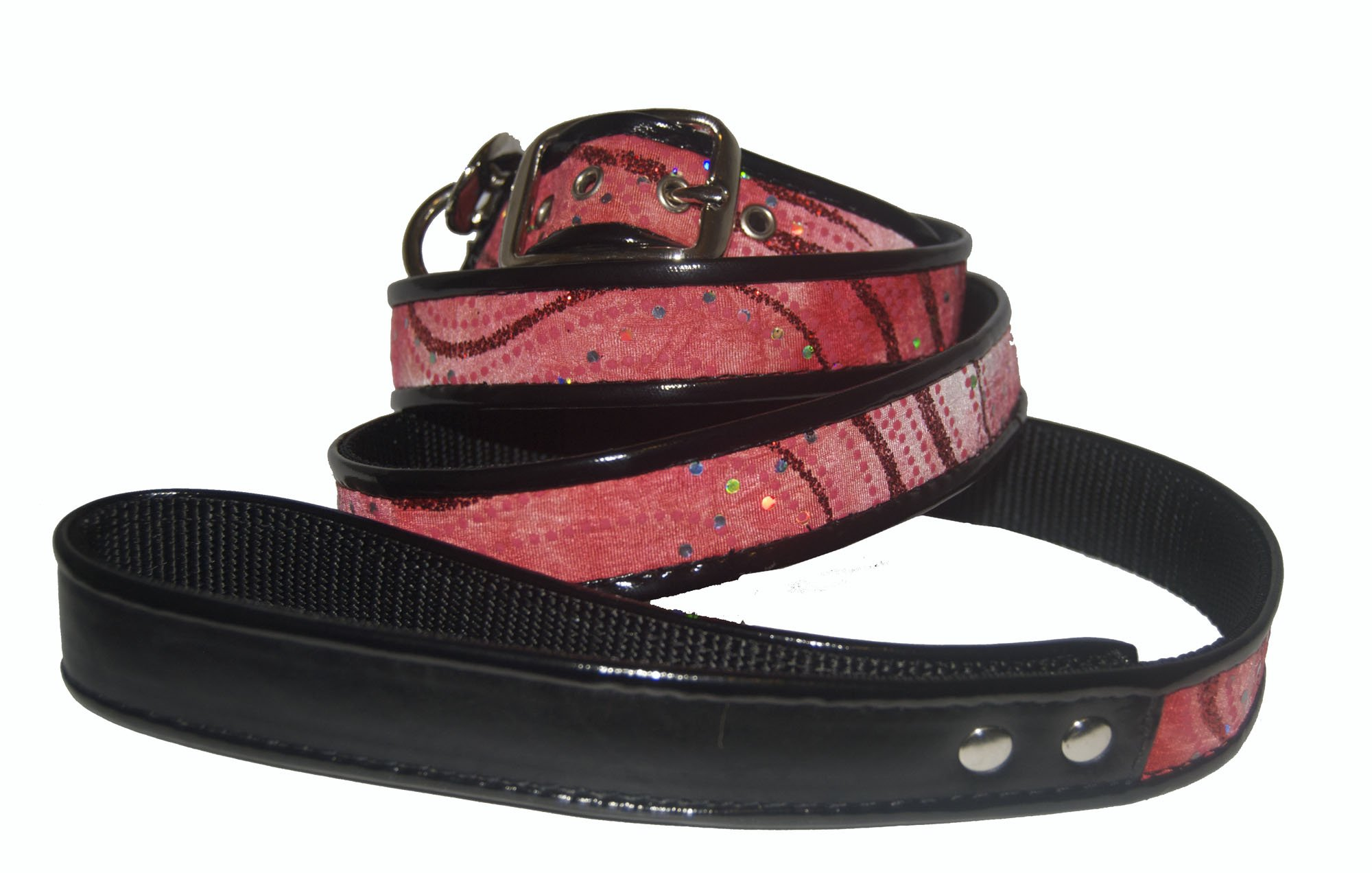 Jodi Head's RJ Cash Petwear Dede Red Sparkle Fabric Dog Collar and Leash, Large, Red by Unknown