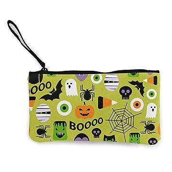 MODREACH Women s Pumpkin Bat Spider Web Halloween Party Patterns Purse  Clutch Bag Card Holder 6dc6e4ff1