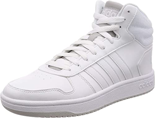 adidas Herren Hoops 2.0 Mid Basketballschuhe, Bianco