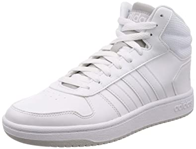 the latest 031c2 84116 adidas Hoops 2.0 Mid, Chaussures de Basketball Homme, Blanc (Blanco 000),