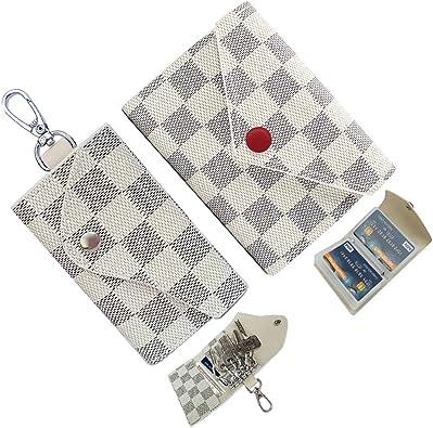 Keychain Bag PU Leather Key Wallet Case Purse Pouch Ring Organizer Holder W