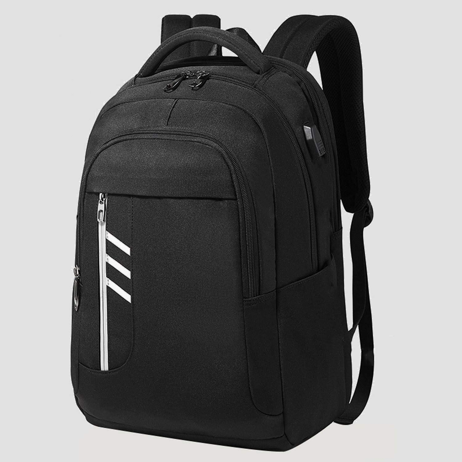 Color : B Waterproof Travel High-Capacity Sports Simple Business Backpack with USB Charging Port and Headphone Jack Suitable for 15.6-inch Laptop Laptop Backpack