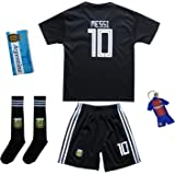 KID BOX 2018 Argentina Lionel Messi  10 Away Soccer Kids Jersey   Short Set  Youth 651aac2ba