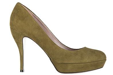 Escarpins chaussures femme 'talon en daim kid Gucci QBnmay