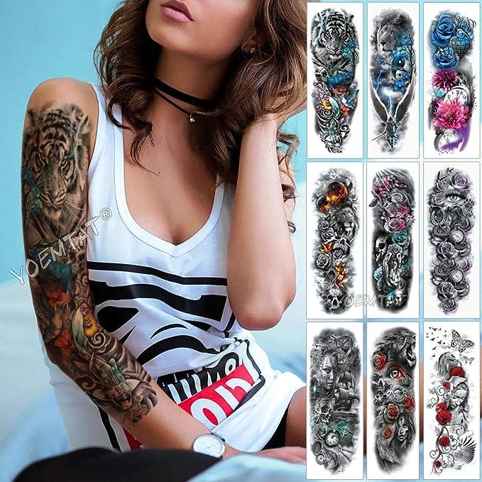 Tatuajes De Manga De Brazo Grande Red Phoenix Rose Tatuajes ...