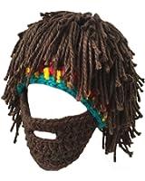 LerBen® Men Women Knit Bearded Hats Handmade Wig Winter Warm Ski Mask Beanie