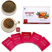 Santulya Certified Organic Herbal Infusion Tea (25 Unbleached Tea Bags) Made with Organic Tulsi, Moringa, Turmeric, Hibiscus & Ginger, for Everyday Balanced Life, Detox, Immunity & Energy