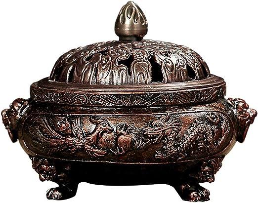 芳香器・アロマバーナー オフィスホーム装飾のための香炉中国風香炉合金ブロンズ線香立てメタルクラフト手作りの香炉 アロマバーナー芳香器