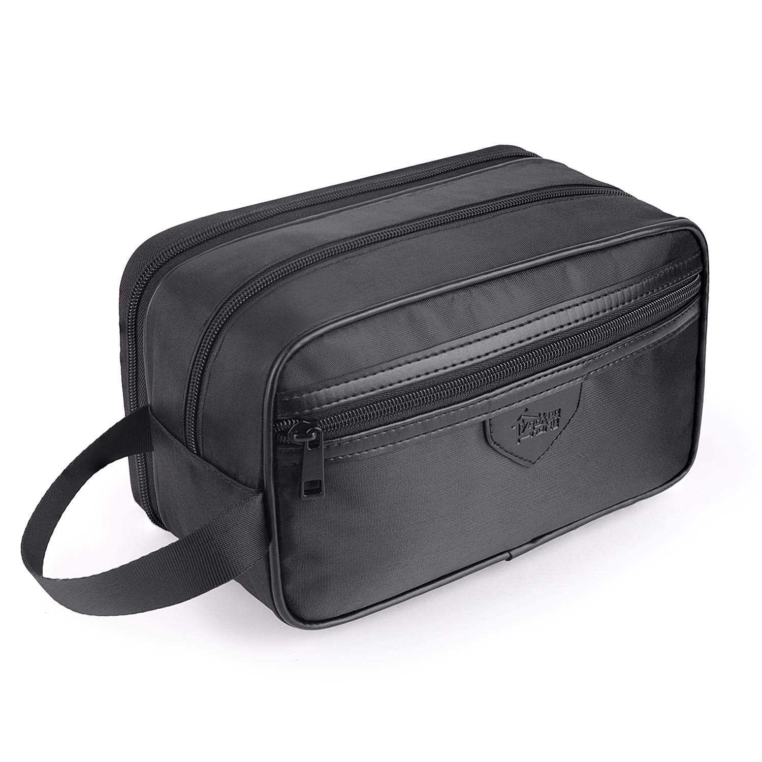 Toiletry Bag for Men Women Waterproof Yookeehome Travel Dopp Kit Shaving Bag Bathroom bag Black Nylon