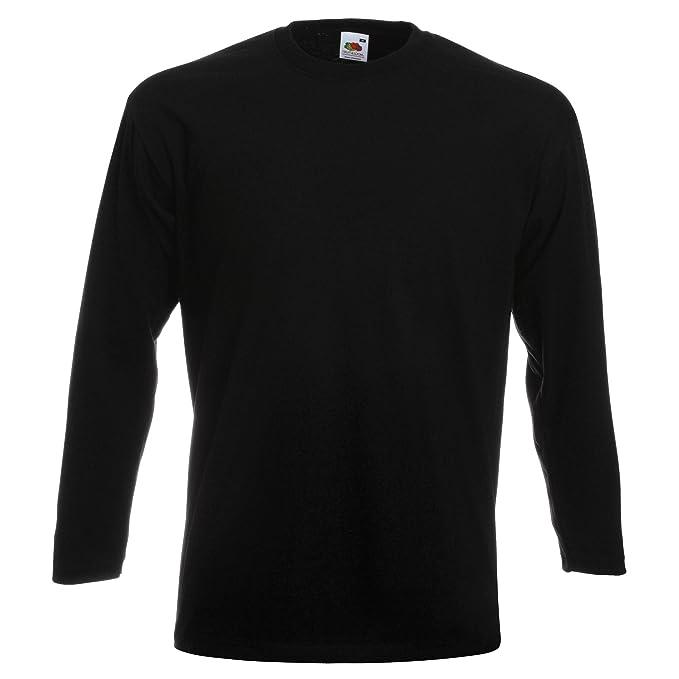 e091ea985622 Fruit Of The Loom Herren Super Premium Langarm T-Shirt  Amazon.de   Bekleidung