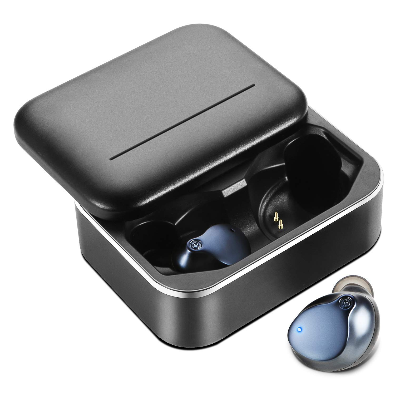 Wireless Earbuds, MusicSnail Newest True Bluetooth 5.0 Touch Control in-Ear Earphones,Deep Bass HiFi 3D Stereo Sound Noise Headphones,Waterproofed Sport 3200mAh Portable Charging Case 150H Black