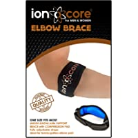 ionocore® Elbow Support Brace - Golf & Tennis Elbow Arm Strap - Lightweight and Adjustable with EVA Compression Pad - One-Size (1)
