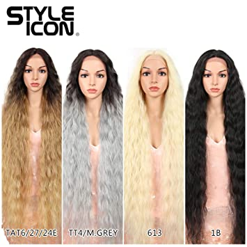 """Style Icon 41"""" Lace Front Wigs Long Wavy Synthetic Wigs with Baby Hair Half  Hand Tied 130% Density"""