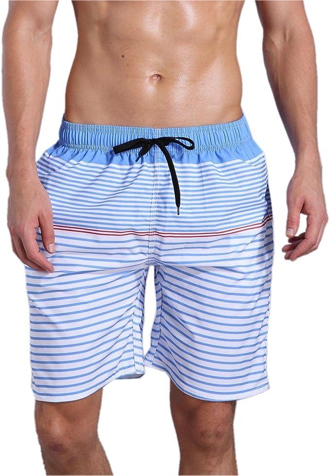 Men/'s Print Beach Pool Fast Dry Water Resistant Pocket Swim Trunks Shorts S-XL