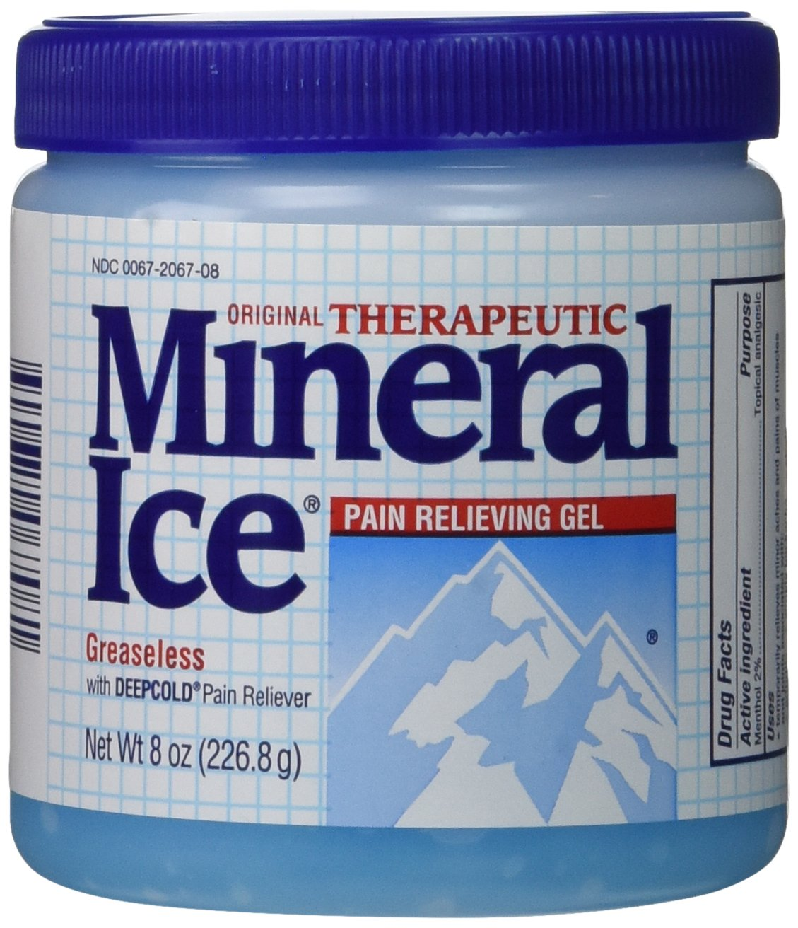 Novartis Mineral Ice Pain Relieving Gel, Original Therapeutic, 2 Count, 8 Ounces.