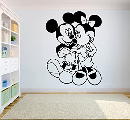Decals, Stickers & Vinyl Art Minnie Mouse Wall Stickers Removable Vinyl Decal Girls Nursery Art Mural Decor