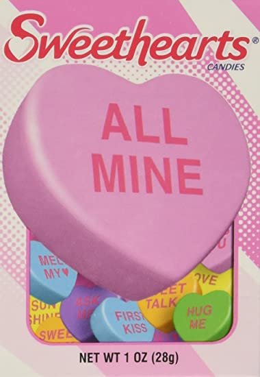 Amazon.com : Sweethearts Conversation Hearts Boxes-Pack of 36 ...