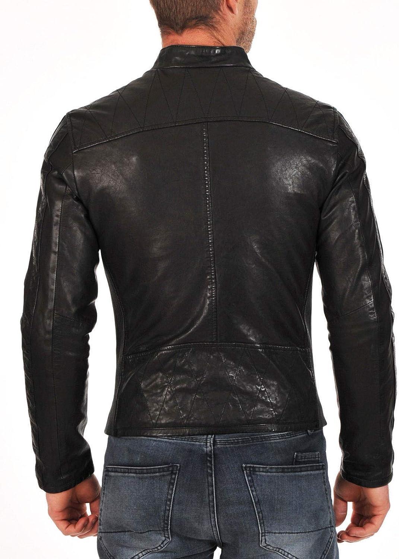brandMe Mens Genuine Leather Pure Lambskin Biker Jacket MM264