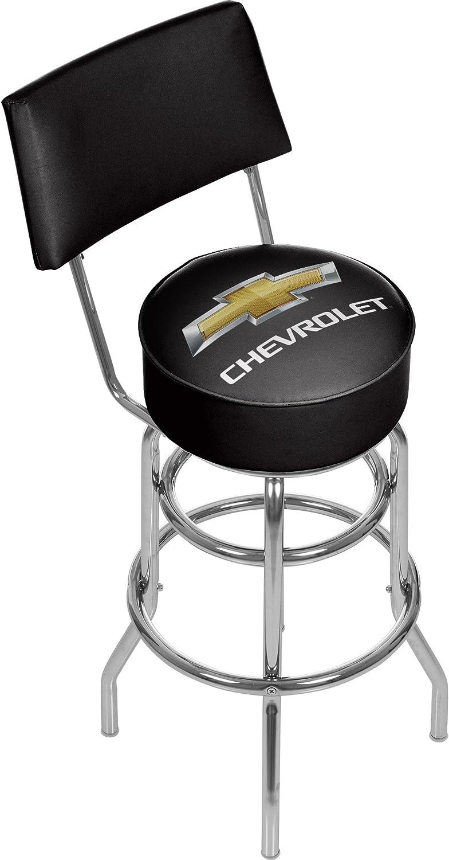 Chevrolet Padded Swivel Bar Stool with Back