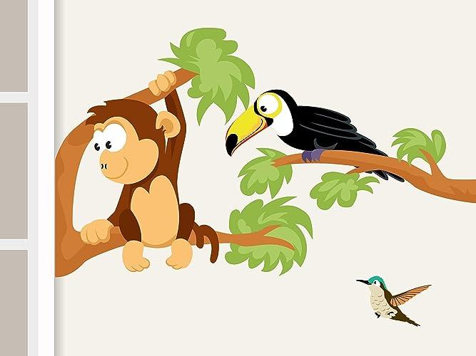 Wandtattoo Affe Und Tukan Afrika Dschungel Affe Und Tukan
