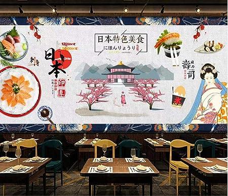 Cuisine Japonaise Peinture Décorative Fond Mur Restaurant