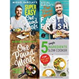 Super easy one pound meals, fast and fresh, delicious food for less and 5 simple ingredients slow cooker 4 books collection set