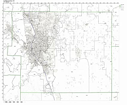Amazon.com: El Paso County, Colorado CO ZIP Code Map Not Laminated