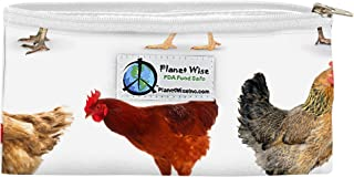 product image for Planet Wise Reusable Zipper Sandwich and Snack Bags, Snack, Mother Clucker Poly