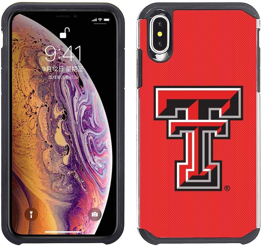Prime Brands Group Cell Phone Case for Apple iPhone Xs Max - Red/Black - NCAA Licensed Case for Texas Tech Red Raiders