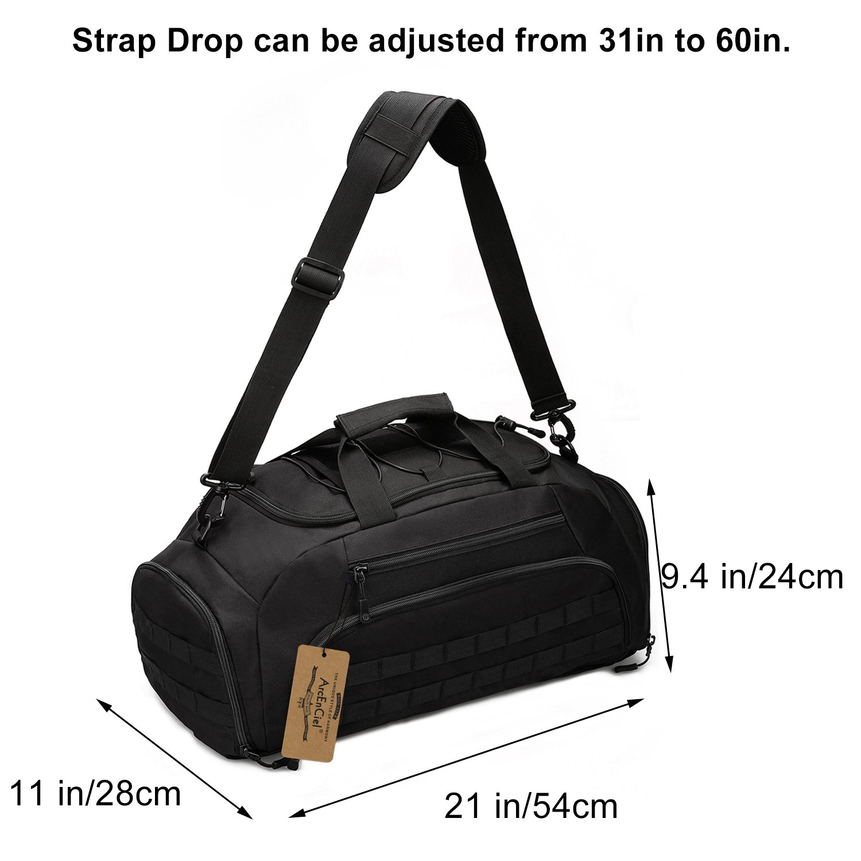 5fe91ef7c0 Amazon.com  ArcEnCiel Men Gym Bag Backpack Rucksack Tactical Military Molle  Shoulder Bags Waterproof Shoes Storage Sports Handbag Camping (Black)   Sports   ...