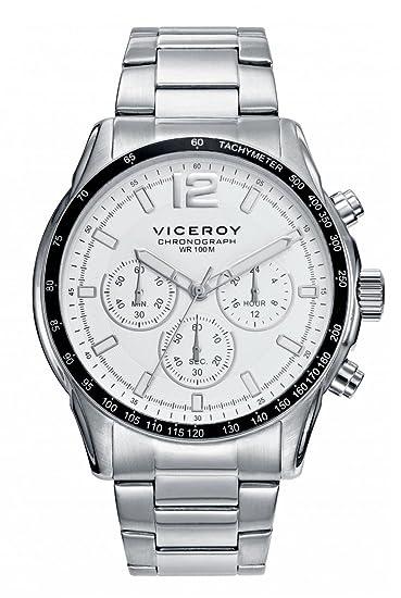 Viceroy Reloj Multiesfera para Hombre de Cuarzo con Correa en Cuero 46665-55: Amazon.es: Relojes