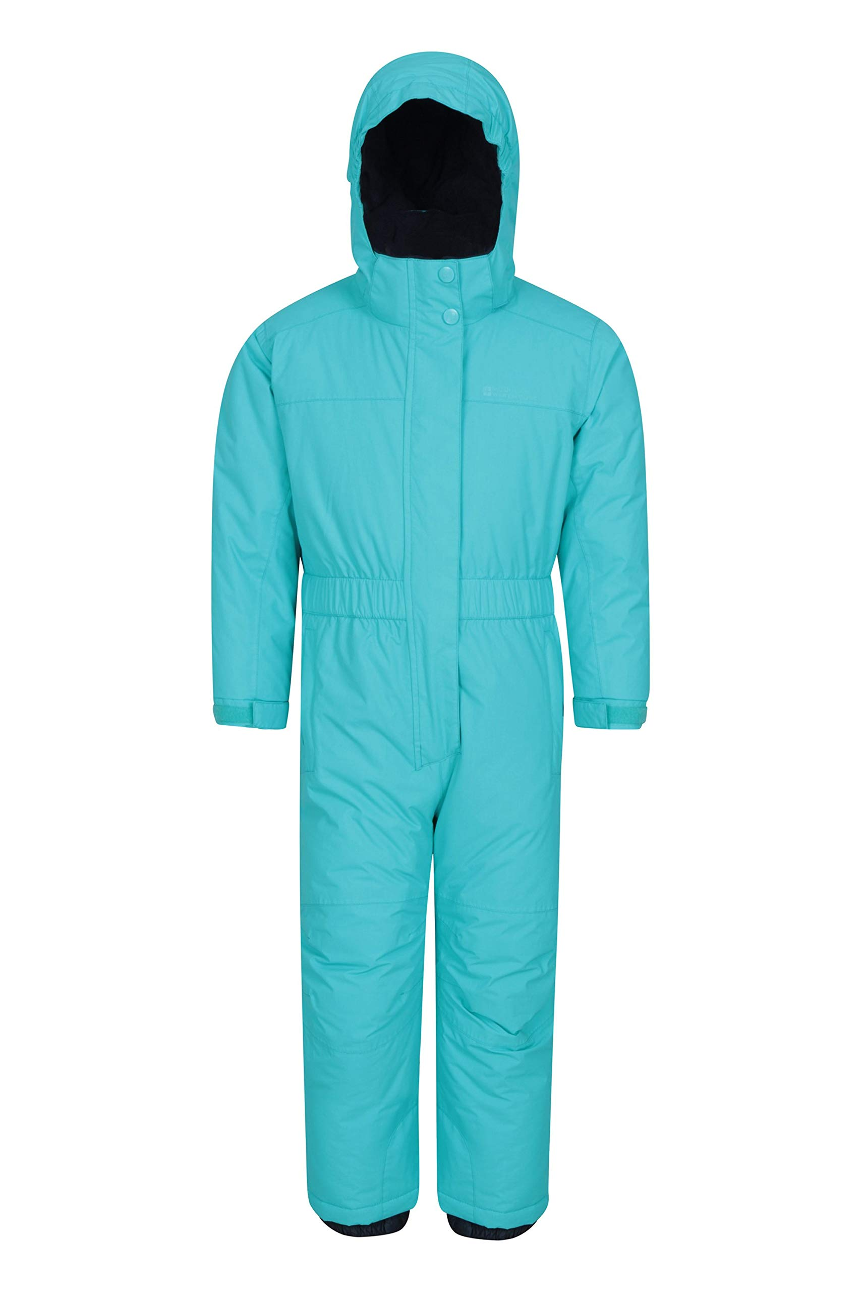 Mountain Warehouse Cloud All in 1 Kids Snowsuit - Waterproof Rainsuit Teal 5-6 Years by Mountain Warehouse