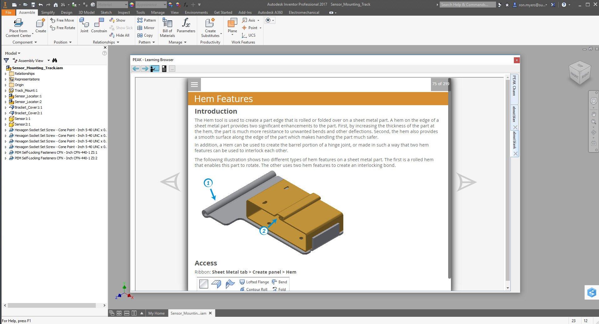 Learning Inventor 2015 - Sheet Metal Design: Ed O'Halloran